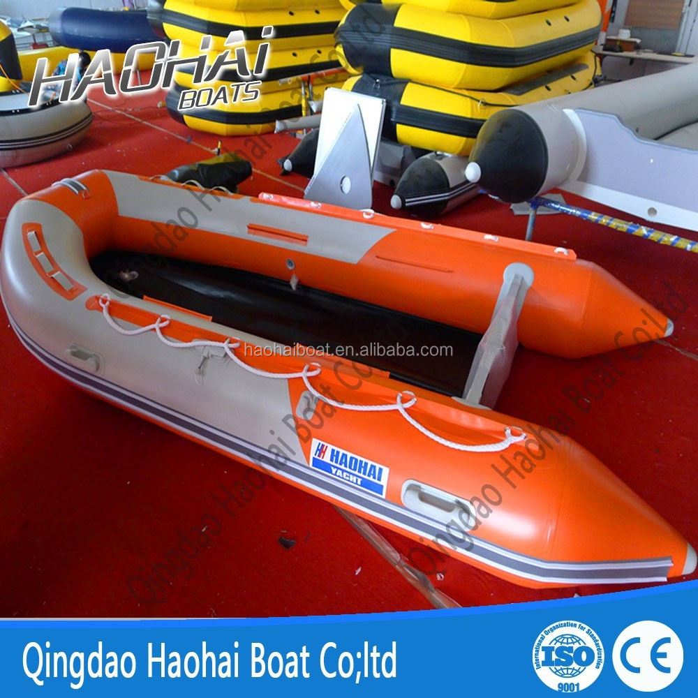 12'6''(380cm) semi-rigid aluminum floor inflatable fishing boat
