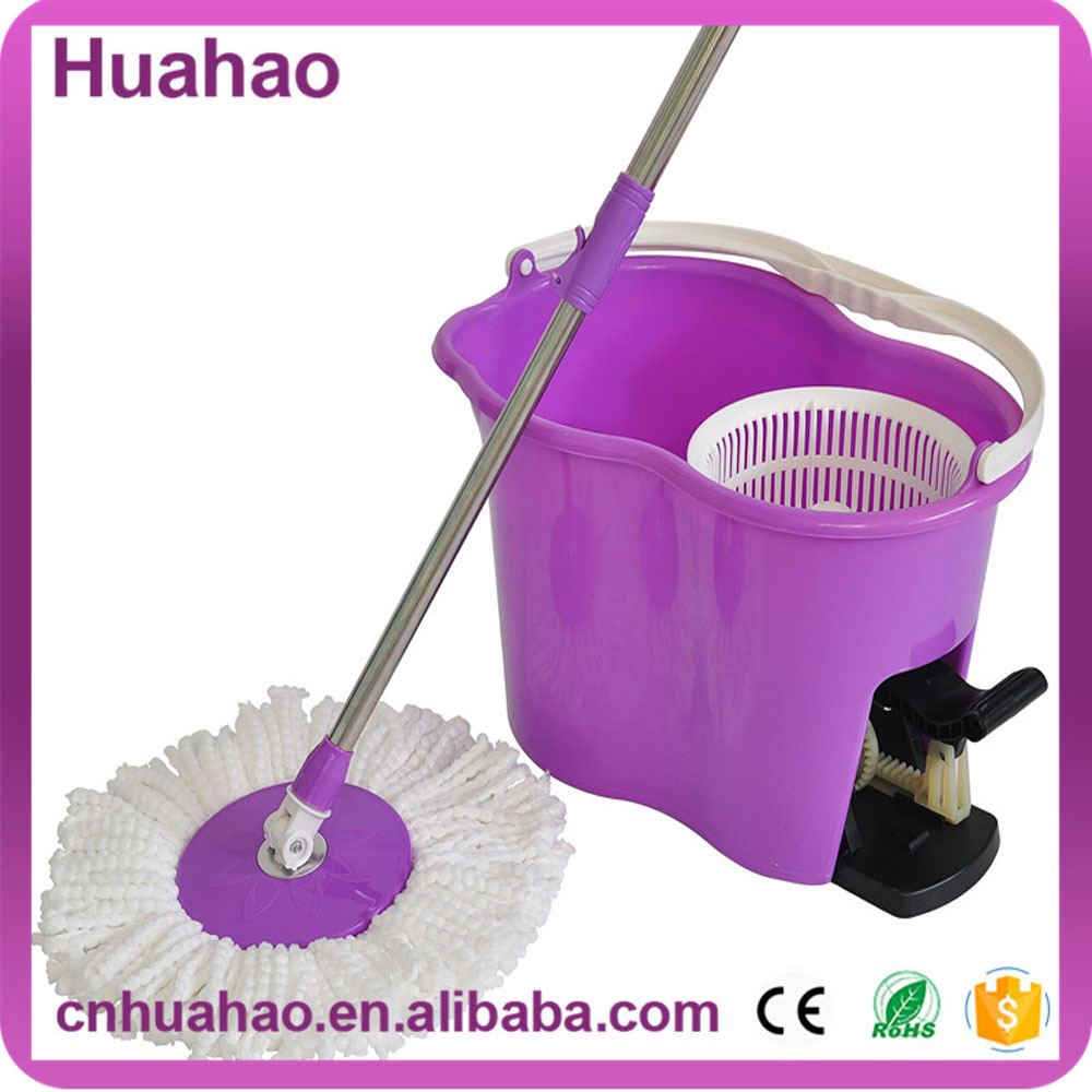 360 degree magic miracle mop with handle press