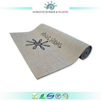 IMI Parts ISO9001 14001 RoHS Certificate Custom Printed Natural Anti-slip eco- friendly 5mm pvc jute yoga mat