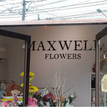 Custom acrylic sign for flower shop