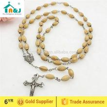 Professional religious factory wood rosary catholic promotion gift