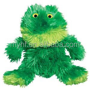 Eco-friendly new materials 5inch fluffy green frog dog toy