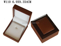 Customized Elegant Wooden with Leather Pendant Box W110