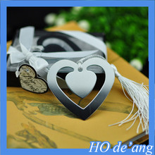 factory wholesale wedding favor gift heart-shaped bookmark metal bookmark MHo-98