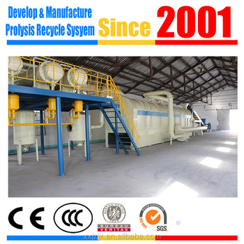 2016 latest technology waste rubber pyrolysis equipment fuel oil manufacturers
