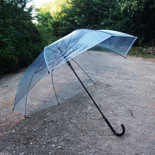 Auto opening rainproof transparent clear poe pvc umbrella for market