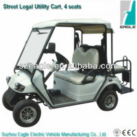 Street legal EEC buggy EG2028KSZR-01(48V/5KW AC system), EEC certified electric golf utility car with flip-flop seat, 4 seats