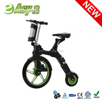 2017 newest e-bike battery 24 volt lithium battery pack Folding Mini Electric Scooter Notebike for adults hot on sale