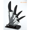 4pcs kitchen knife ceramic set with acrylic stand