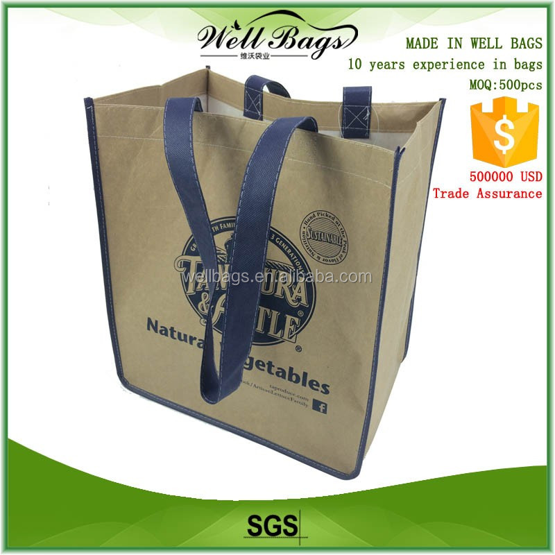 kraft paper non woven fabric supermarket reusable shopping hand bag alibaba trade assurance
