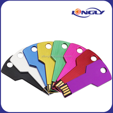 Top Selling Promotional Colorful Key Shaped USB Flash Drive