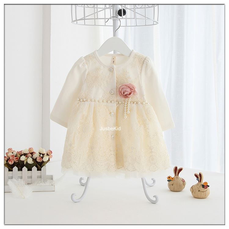 Girl Spring&Autumn Clothing Rose Flower Fancy Dress Cotton Baby Boy Clothes