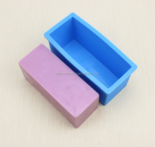 Flexible Rectangular Soap Silicone Mold used in wood box silicone soap bar