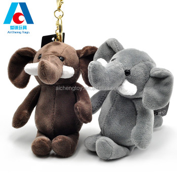 10cm plush wild animal toys keychain stuffed plush elephant keychain toys