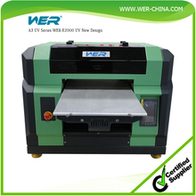 Small ! cheap ! a3 WER E2000UV on desk directly printing phone case,pen,lighter,pvc card,uv printing machine