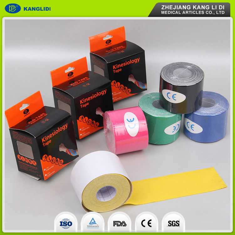 KLIDI Yueqing Medical Consumable Manufacturer Supply Waterproof Elastic Adhesive Muscle Therapeutic Kinesiology Sports Tape