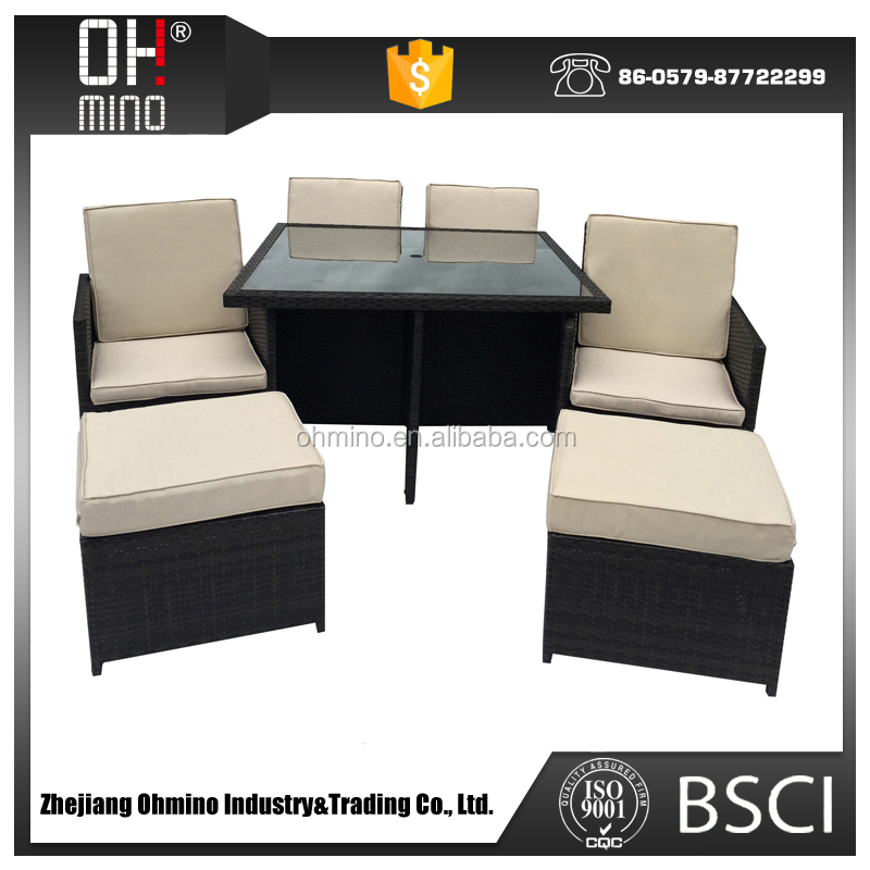outdoor rattan durable philippine dining bistro round table set