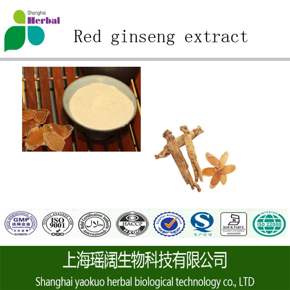 Organic 100% pure natural ISO/GMP Red ginseng