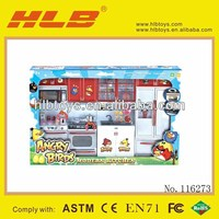 116273 Q1136-QF26211-AB Four stylish kitchen combinations Furniture Toys Set for Children,Turntable Toys Kids Toys