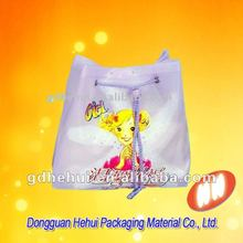 Small cute Plastic Drawstring Gift Bag