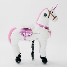 Ride On Horse For Fun Plush Mechanical Walking Unicorn Scooter