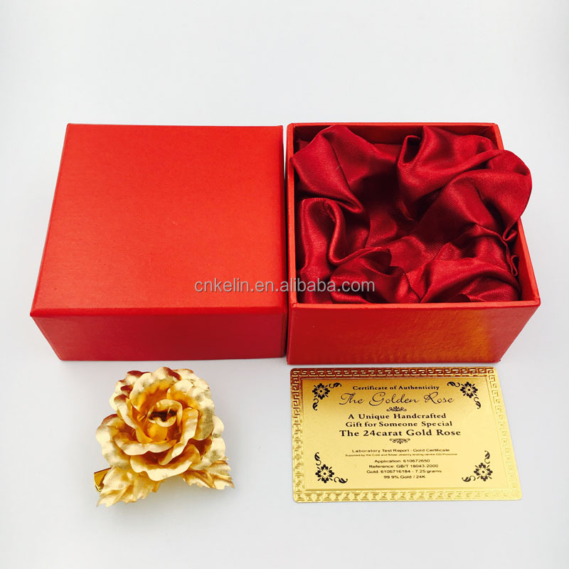 5cm Creative Proposal Flower pure gold 24K Rose in high quality finishing and natural look