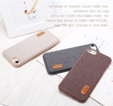 Baseus Grain Modern Canvas cover mobile Phone Case For iPhone 7