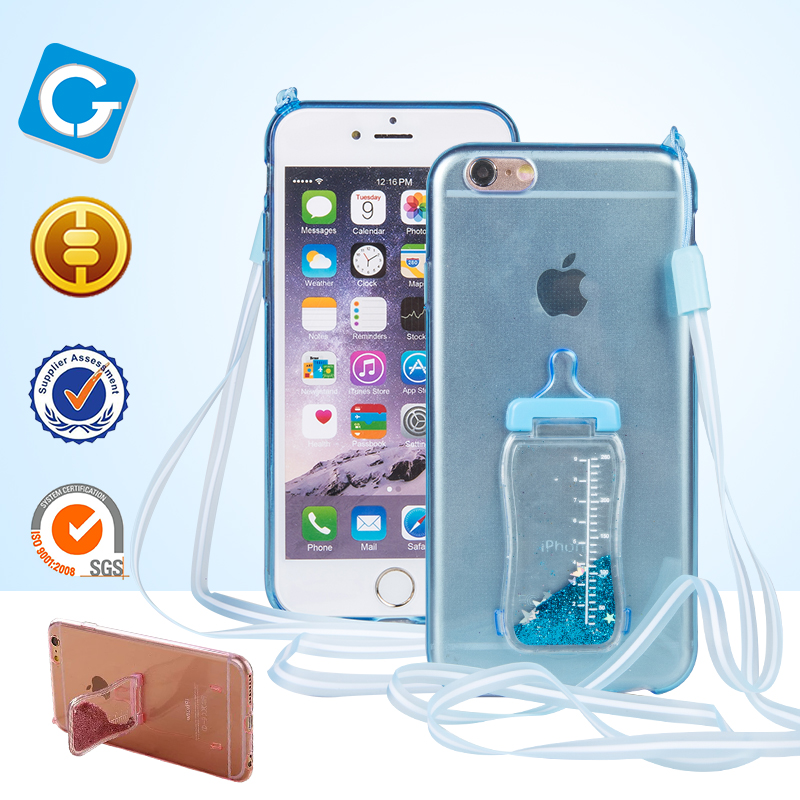 Professional Wholesale Liquid Silicone Phone Case Glitter Liquid Water For iPhone TPU Case