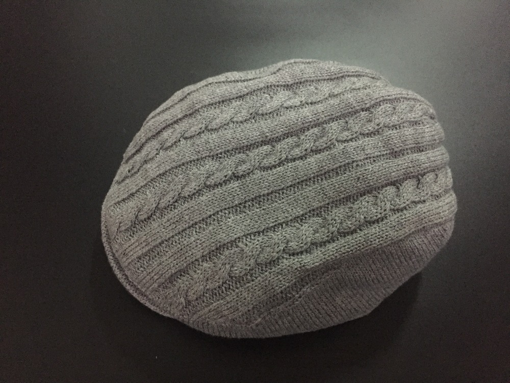 winter customize knits flat hat for baby