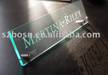 Acrylic Name Plate,Perspex Logo Sign,Plexiglass Desk Sign