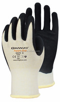 13G Dyneema Diamond liner with black sandy nitrile coated gloves