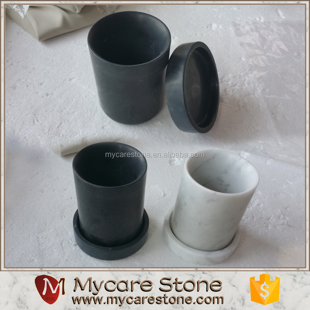 A Marble In A Cup Of Honey : Natural stone nero marquina black marble candle cup buy