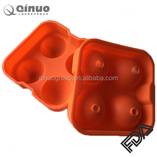 Promotion Silicone Ice Ball Mold/Ice Ball Maker, Hot Selling 4Cavity Silicone Ice Ball Mold / Cheap Silicone Ice Ball
