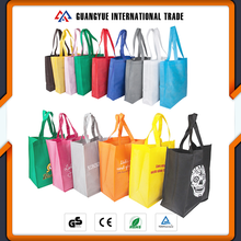 Guangyue Promotional Cheap Customized Foldable Laminated Eco Fabric Tote Non-woven Shopping Bag, Recyclable PP Non Woven Bags