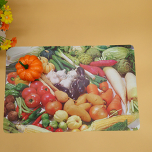 Promotional Custom Full Color Printing PP Placemat / PP table mat Plastic placemat for baby