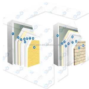 Reinforced fiber composite insulation board exterior wall insulation system (paint finishes and brick veneer)