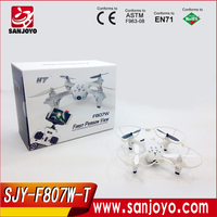 F807 fpv wifi gryo quadcopter rc drone vs hubsan H107D FPV HD CAMERA Real-time transmission fpv Headless model airplanes