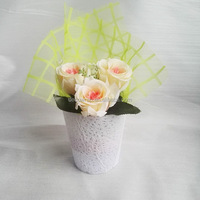 Emboss nonwoven flower pot cover