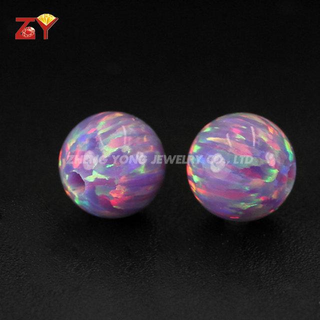 Synthetic Opal Ball, Amethyst Opal Stone, Lab Created Opal