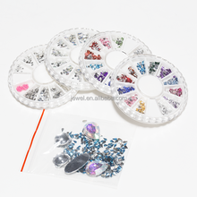 Nail Art Acrylic Plastic Diamond stones round drop factory wholesale