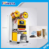 New arrival 450 cups/h high capacity automatic small bubble tea cup sealing machine