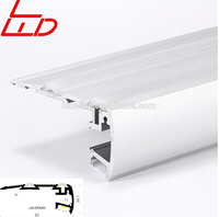 China anti-slip aluminum profile with strip LED for stairs