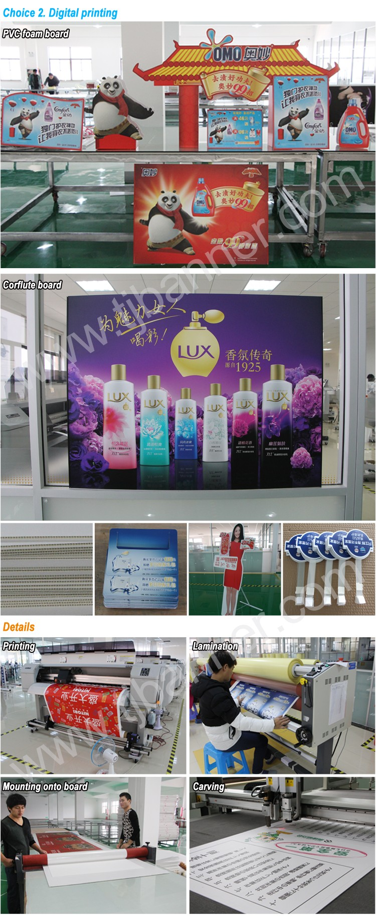 Beautiful Foam Board Banner Printing With Die Cuting Colorful