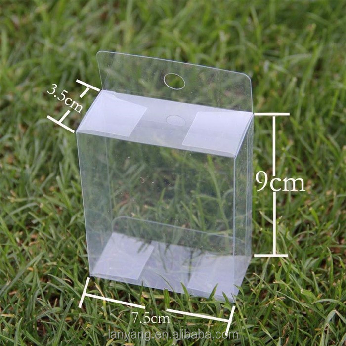 Clear Plastic Tuck Top PVC Boxes Wedding Party Favor Display Box