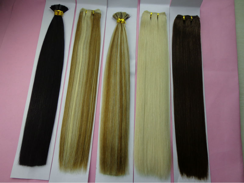 Human Hair Material and Pre-Bonded Hair Extension Type virgin russian hair
