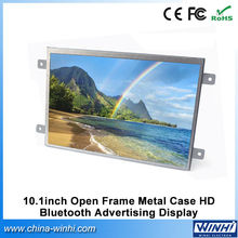 10.1inch open frame HD lcd publicity screen car portable bluetooth media player