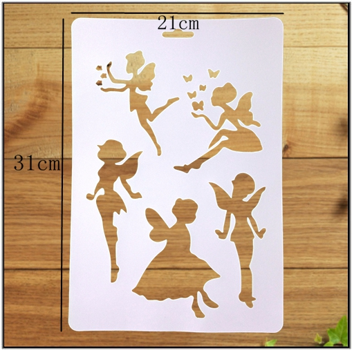 YIWU manufacturer drawing stencil ,figure stencil, and stencil set in child