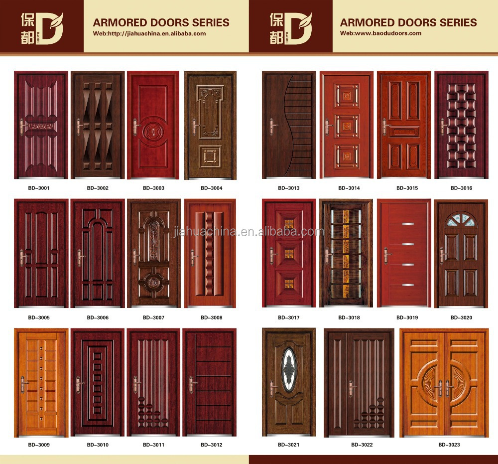 Residential New Church Interior Doors Steel Wood Armored Security Door In 2016 From China Golden