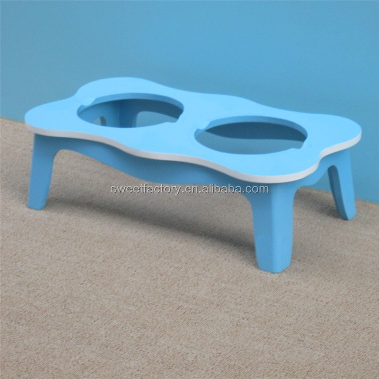 Pet dining table stainless steel food bowls