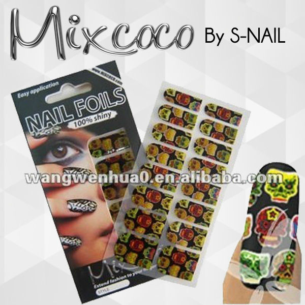 New design Halloween nail sticker,halloween nail patch